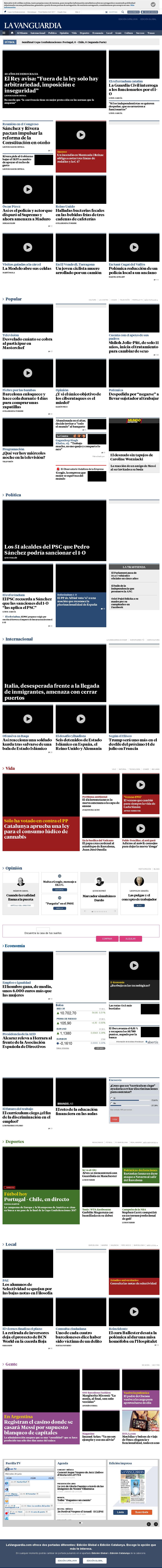 La Vanguardia at Wednesday June 28, 2017, 7:26 p.m. UTC