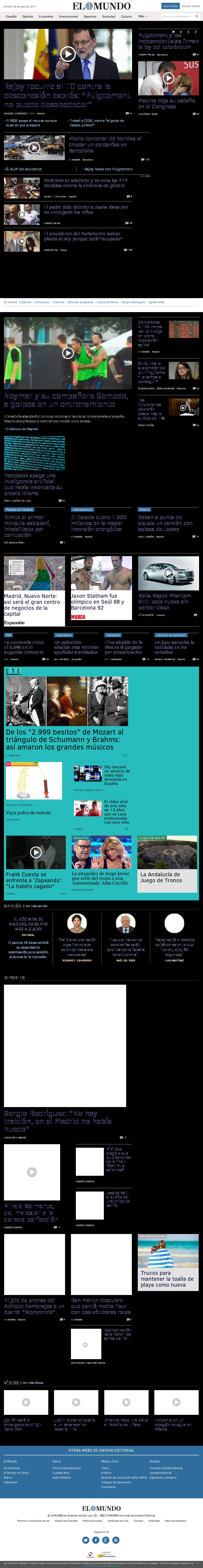 El Mundo at Friday July 28, 2017, 2:12 p.m. UTC
