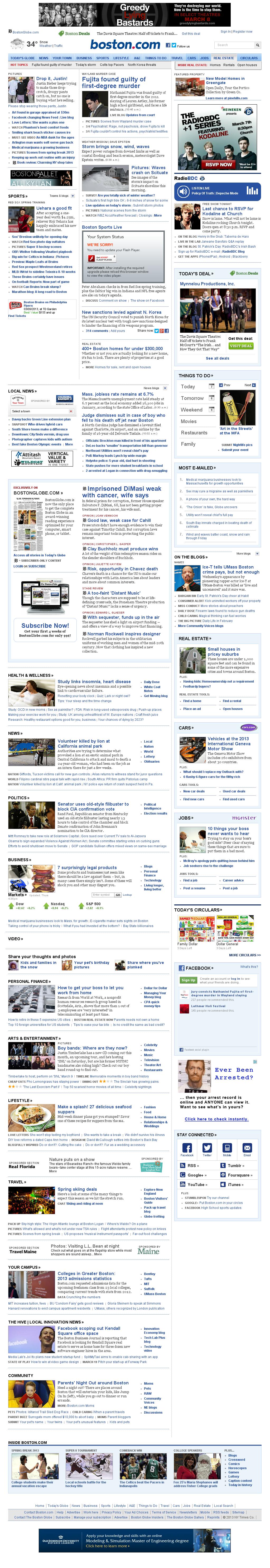 Boston.com at Thursday March 7, 2013, 5:01 p.m. UTC