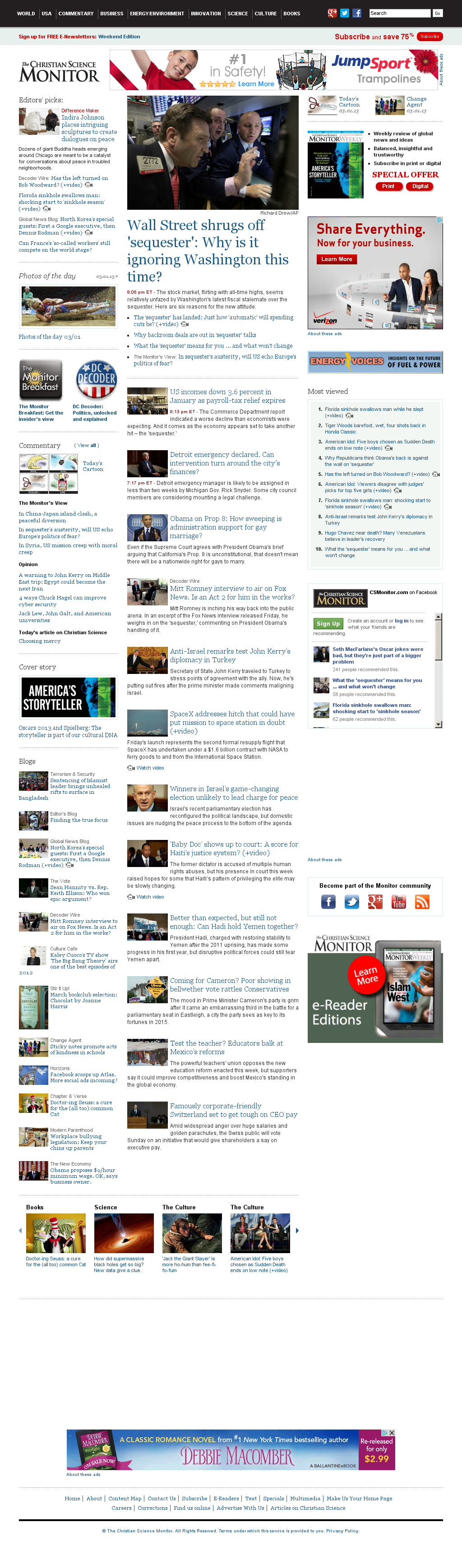 The Christian Science Monitor at Saturday March 2, 2013, 2:03 a.m. UTC