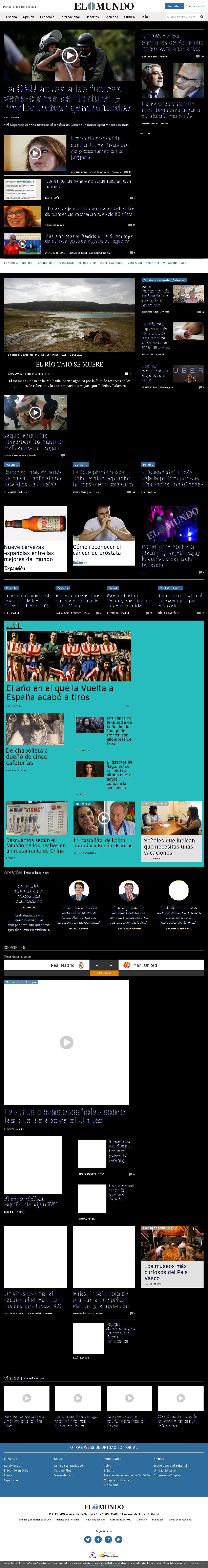El Mundo at Tuesday Aug. 8, 2017, 1:12 p.m. UTC
