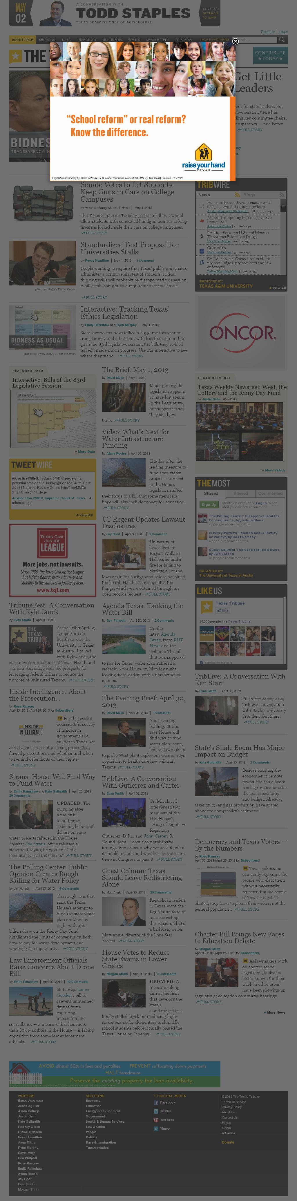 The Texas Tribune at Wednesday May 1, 2013, 1:25 p.m. UTC