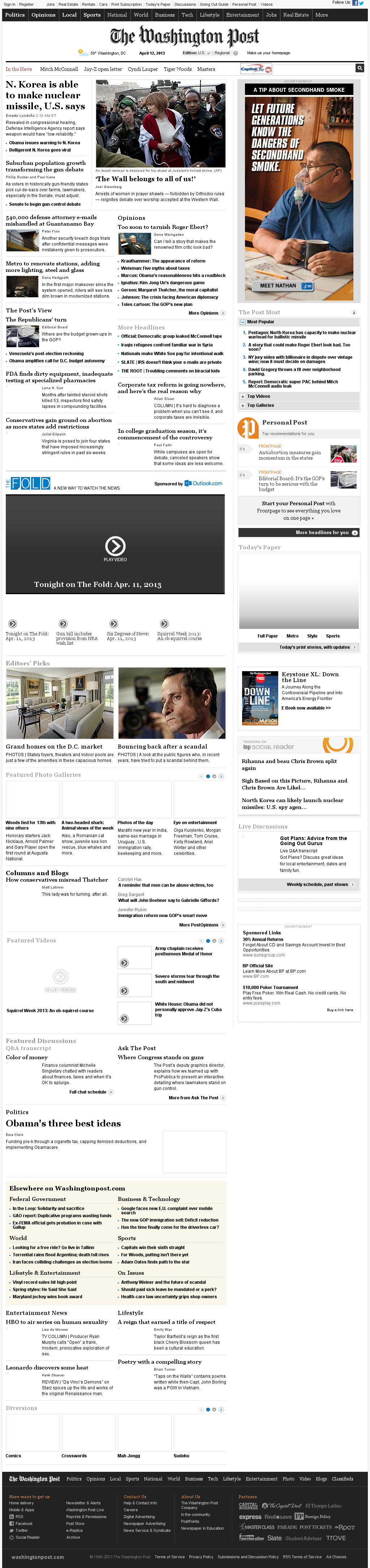 The Washington Post at Friday April 12, 2013, 4:31 a.m. UTC