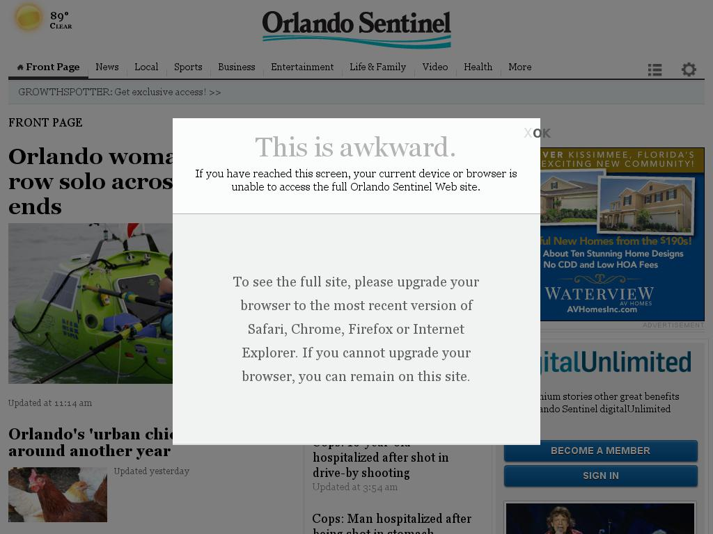 Orlando Sentinel at Sunday June 14, 2015, 4:23 p.m. UTC