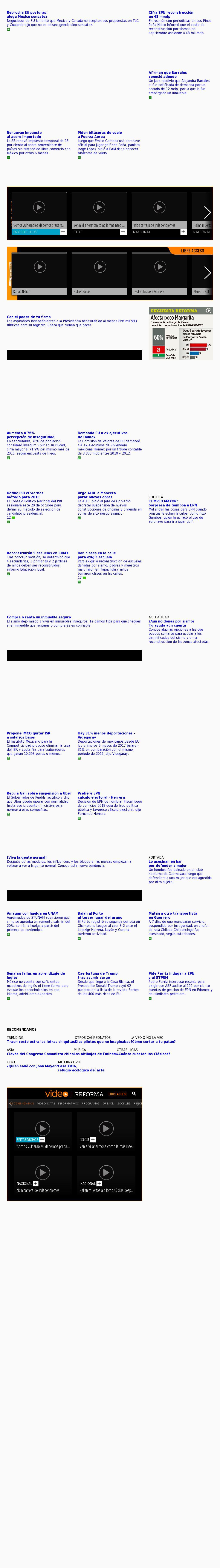 Reforma.com at Tuesday Oct. 17, 2017, 9:14 p.m. UTC