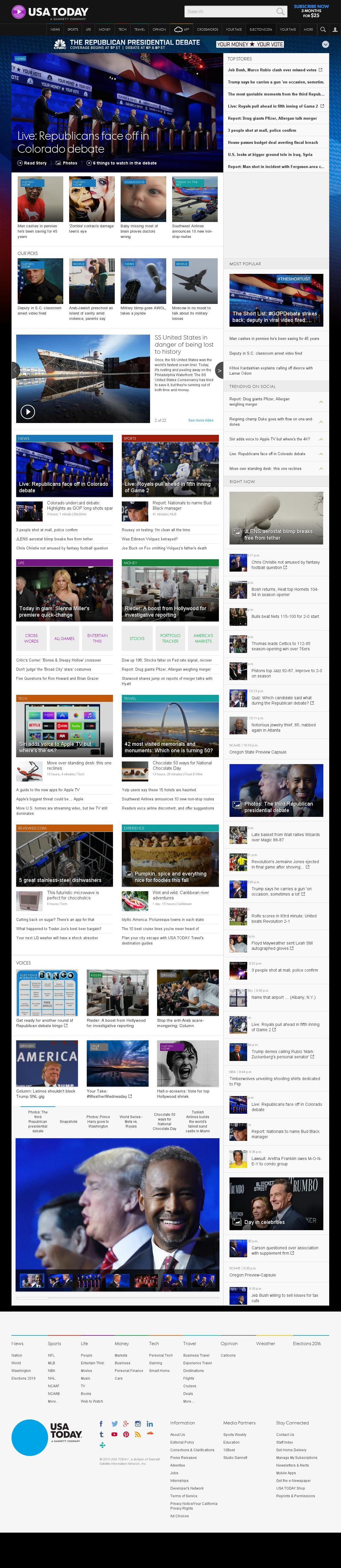 USA Today at Thursday Oct. 29, 2015, 2:24 a.m. UTC