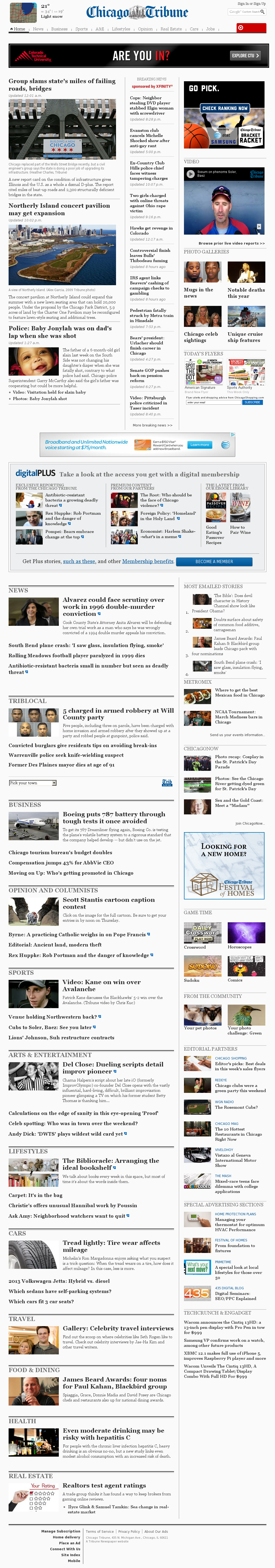 Chicago Tribune at Tuesday March 19, 2013, 8:03 a.m. UTC