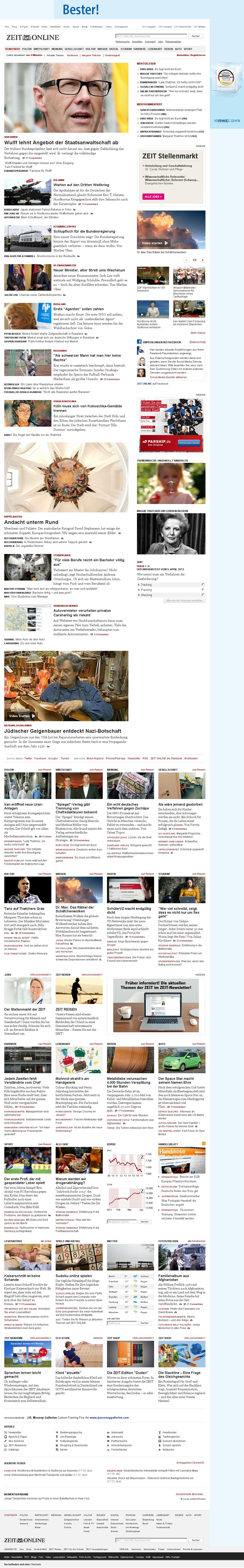 Zeit Online at Tuesday April 9, 2013, 3:37 p.m. UTC