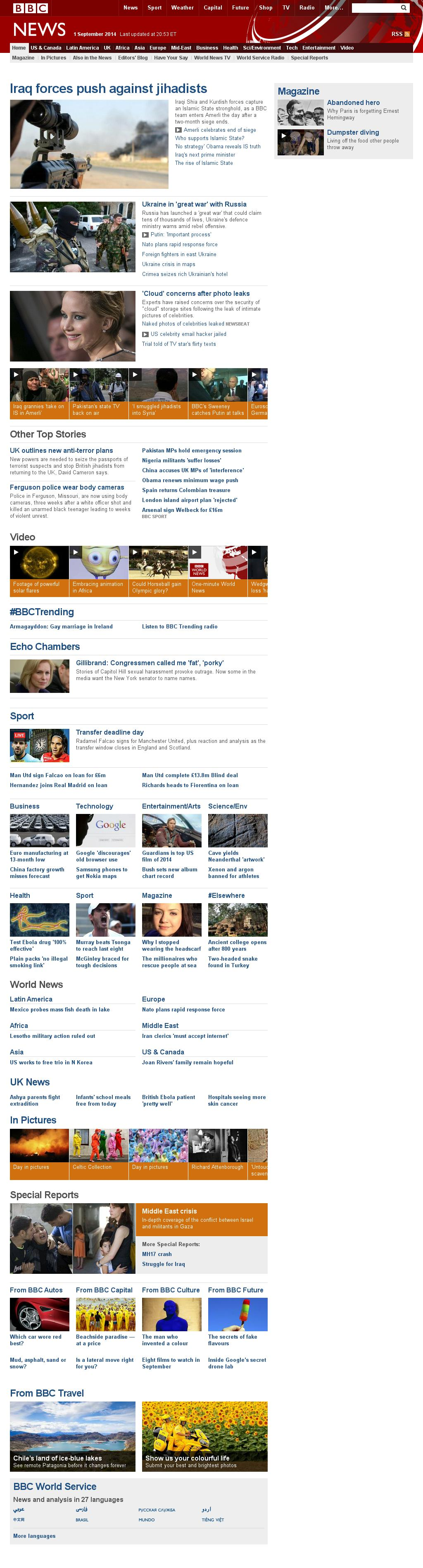 BBC at Tuesday Sept. 2, 2014, 1 a.m. UTC