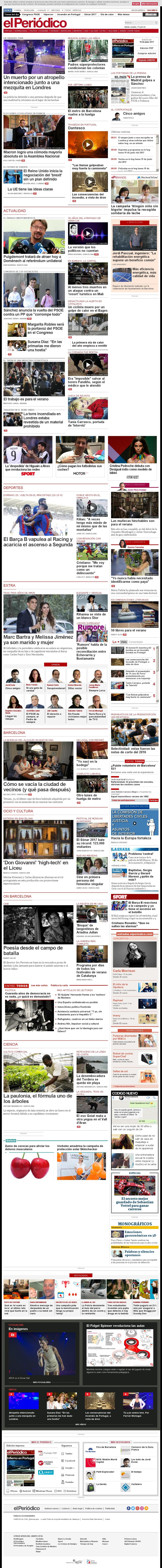 El Periodico at Monday June 19, 2017, 6:15 a.m. UTC