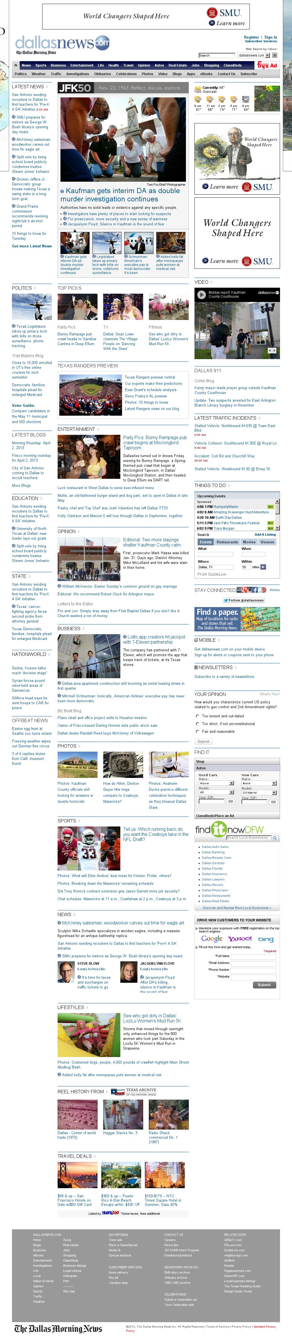 dallasnews.com at Tuesday April 2, 2013, 12:04 p.m. UTC