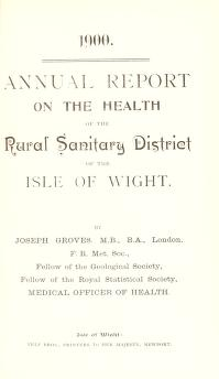 Cover of: [Report 1900]   Isle of Wight (England). Rural District Council